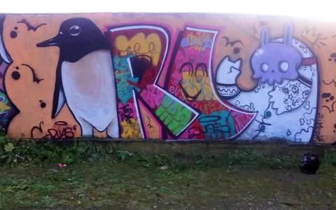 Spray sobre pared